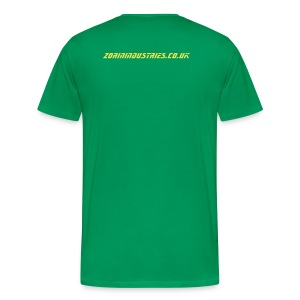Secret of Genius backprint green - Men's Premium T-Shirt
