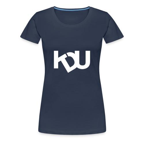 KDU Stor logga - Premium-T-shirt dam