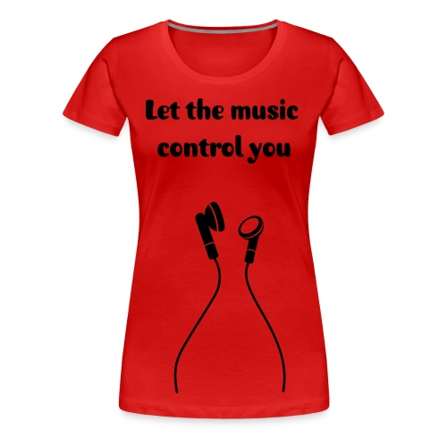 T-shirt NoReality Let the music - T-shirt Premium Femme