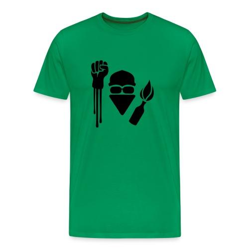 Anarchist Salute T-Shirt - Men's Premium T-Shirt