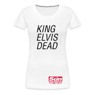 T-Shirts ~ Women's Premium T-Shirt ~ King Elvis Dead