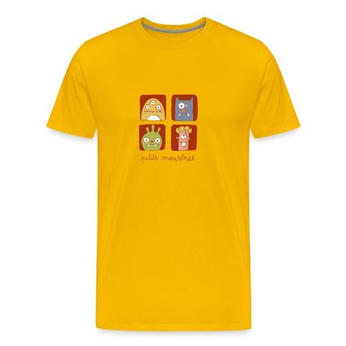 Petits monstres jaune - T-shirt Premium Homme