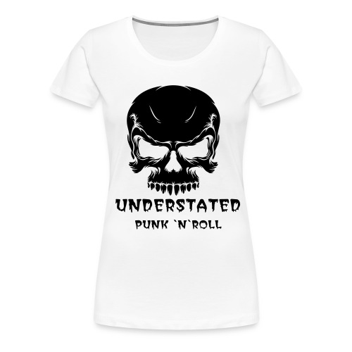 Girlie Skull White - Women's Premium T-Shirt