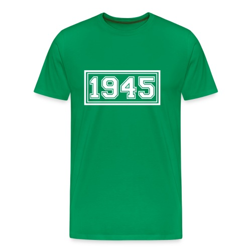 1945, weißer Flexdruck - Männer Premium T-Shirt