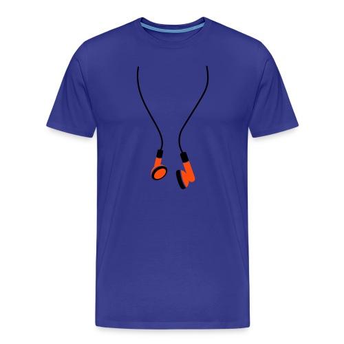 EarPhones - Premium-T-shirt herr