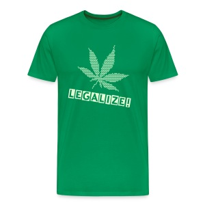 Raster-Hanfblatt + Legalize, Glow-in-the-Dark-Shirt - Männer Premium T-Shirt