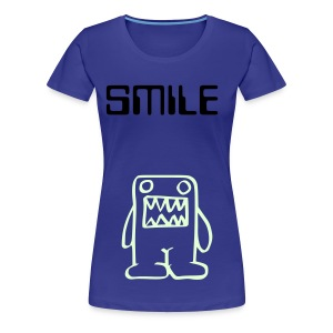 Cute glow-in-the-dark monster girly fit top (you can change the colour of the top and text to suit you!) - Women's Premium T-Shirt