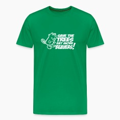 Save the trees eat more beavers t-shirts