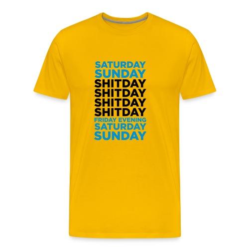 Shitday - Premium T-skjorte for menn