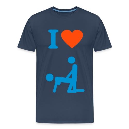 I love sex shirt  - Herre premium T-shirt