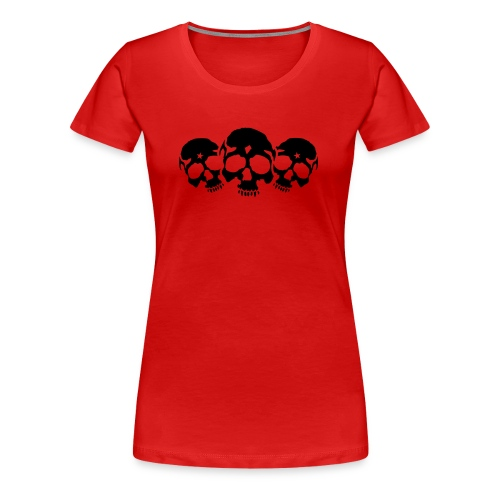 Three Skulls - Frauen Premium T-Shirt