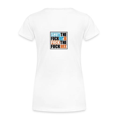 Vrouw Slim Fit wit - Vrouwen Premium T-shirt