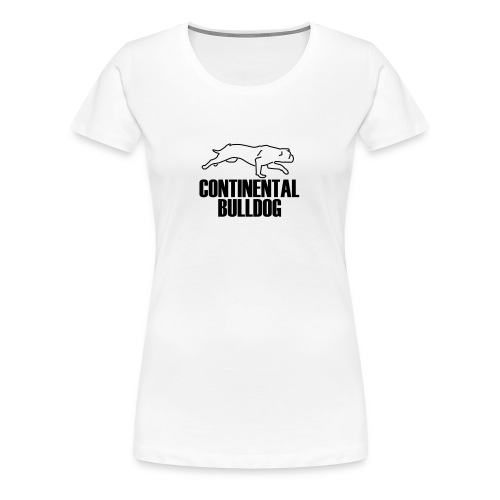 Continental Bulldog Motiv (Beth) - Frauen Premium T-Shirt