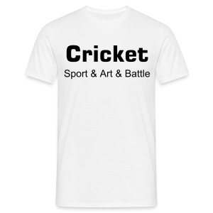 Cricket Sport and art and battle - Men's T-Shirt