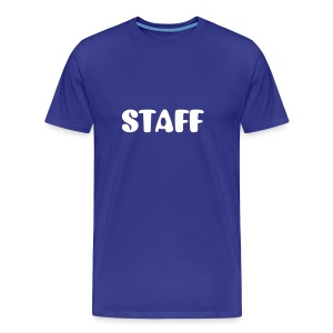 Mens ' Staff ' Tee v5 Blue / White Flex Print - Men's Premium T-Shirt