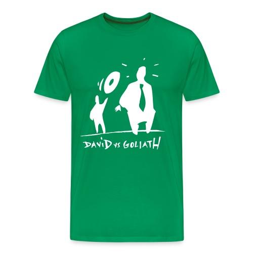 David VS Goliath - Premium-T-shirt herr