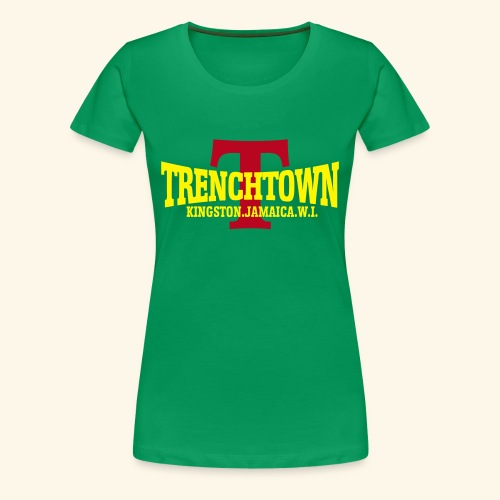 TRENCHTOWN JAUNE & ROUGE - T-shirt Premium Femme