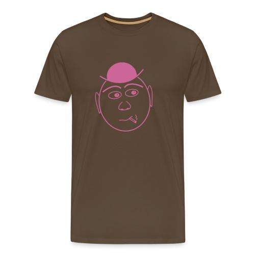 Shirt Gesicht mit Hut - Männer Premium T-Shirt