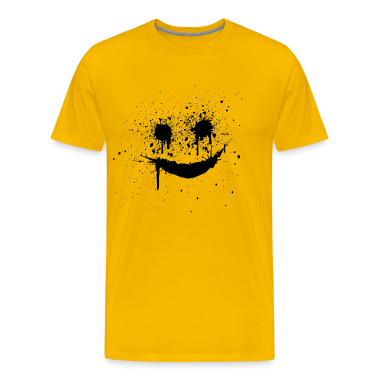 Yellow smiley smilie lachendes gesicht Men's T-Shirts