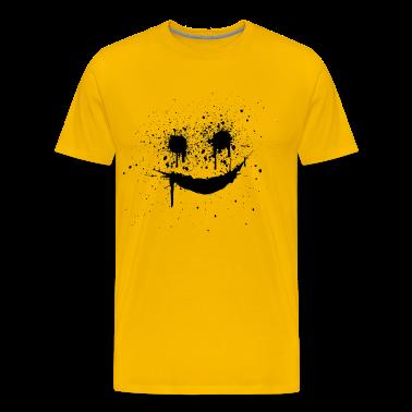 Yellow smiley smilie lachendes gesicht Men's T-Shirts