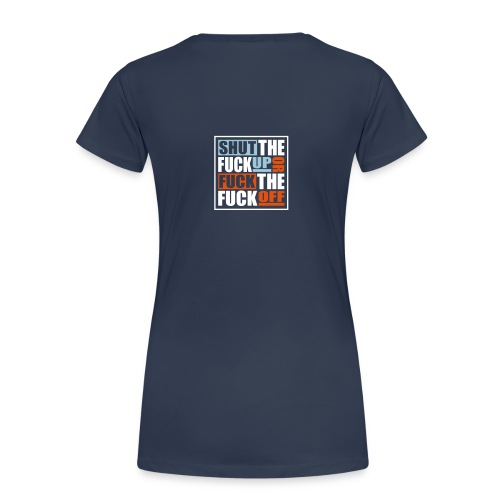 Vrouw Slim Fit navy - Vrouwen Premium T-shirt