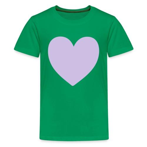 Corazón - Camiseta premium adolescente