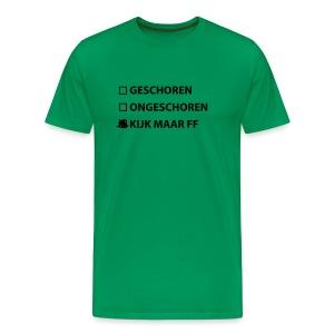 Heren Sexy T-shirt  Kijk maar ff - Mannen Premium T-shirt
