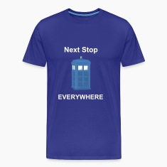 Sky Blue Phone Box Men's T-Shirts