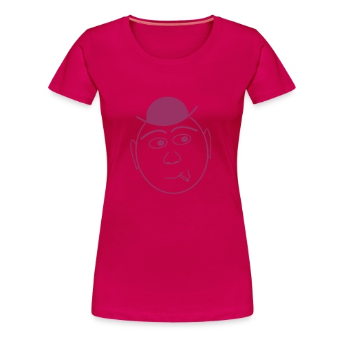 Shirt Gesicht mit Hut - Frauen Premium T-Shirt