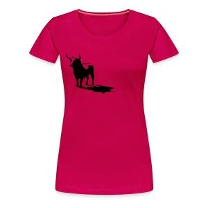 un taureau sur le sein... t shirt corrida - T-shirt Premium Femme
