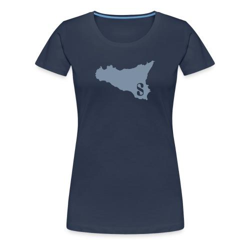 Sicilia Femme Argent - Women's Premium T-Shirt