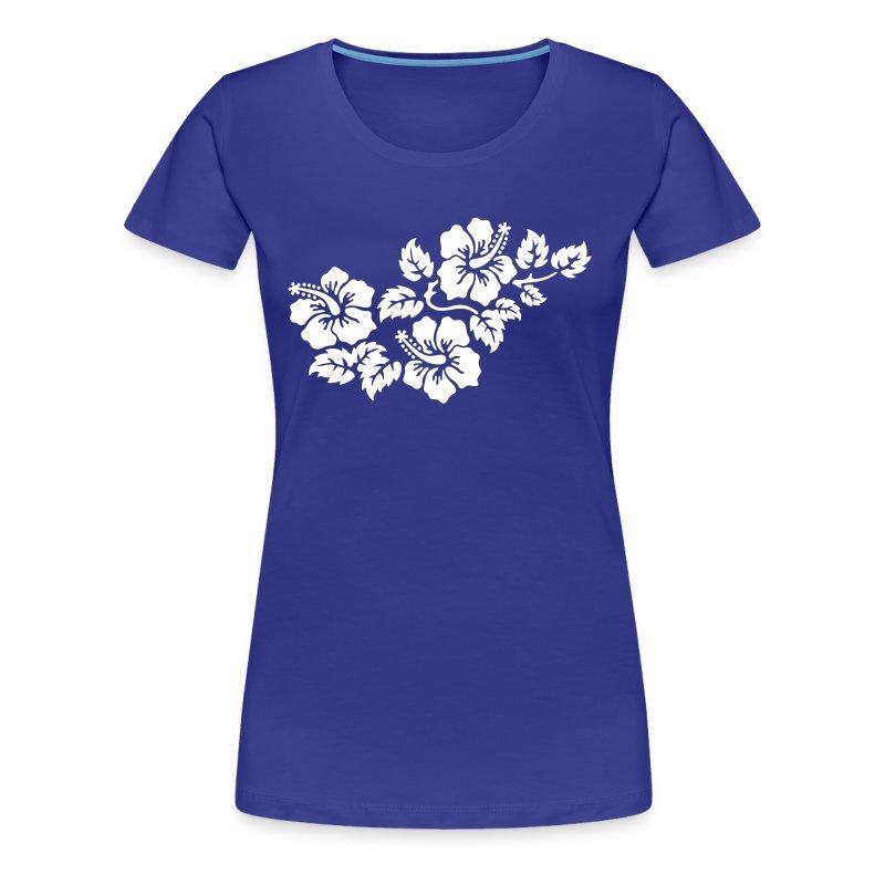 Shirt mit Hibiskus-Motiv 2 - Frauen Premium T-Shirt