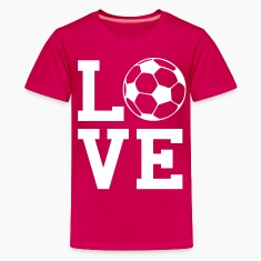 Pink love soccer Kids' Shirts