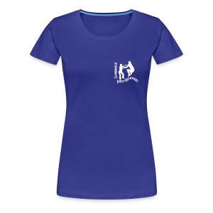 CLH Ladies' Girlie Shirt (Blue/White) - Women's Premium T-Shirt