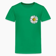 Kelly green Daisy - flower Kids' Shirts
