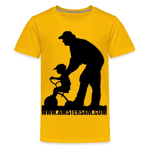 Kid's shirt 'Dad's got your back' Yellow/Black - Teenage Premium T-Shirt