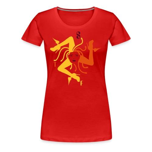 Trinacria Femme Sanguin - Women's Premium T-Shirt