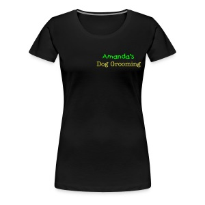 Amanda's Dog Grooming  - Women's Premium T-Shirt