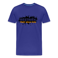 T-Shirts ~ Männer Premium T-Shirt ~ Mann T-Shirt Restavek Splash 03orange © by kally ART®