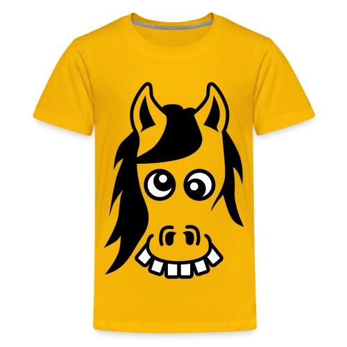 Crazy pony jaune - T-shirt Premium Ado