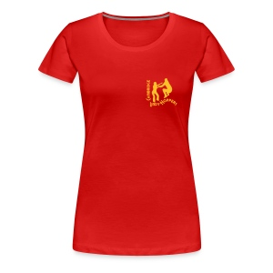 CLH Ladies' Girlie Shirt (Red/Gold) - Women's Premium T-Shirt