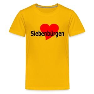 Siebenbürgen Herz Siebenbürgen - Transylvania - Erdely - Ardeal - Transilvania - Romania - Rumänien - Teenager Premium T-Shirt