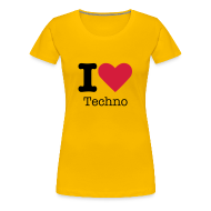 T-shirts ~ Vrouwen Premium T-shirt ~ I Love Techno