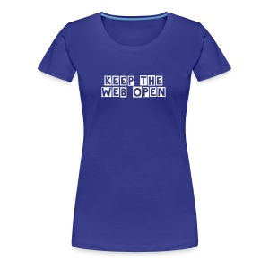 webopen_women_blue_shirt - Women's Premium T-Shirt