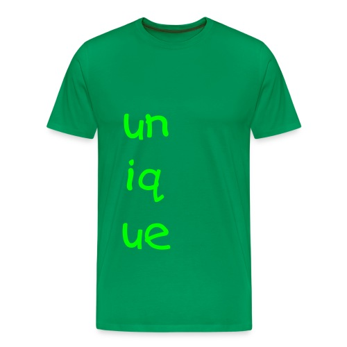 unique green tee - Men's Premium T-Shirt