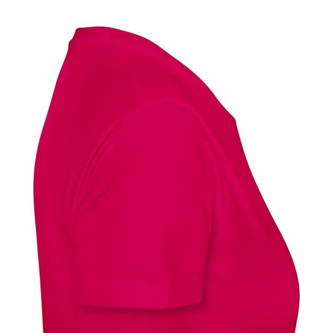 T-shirt femme portrait rose bleu