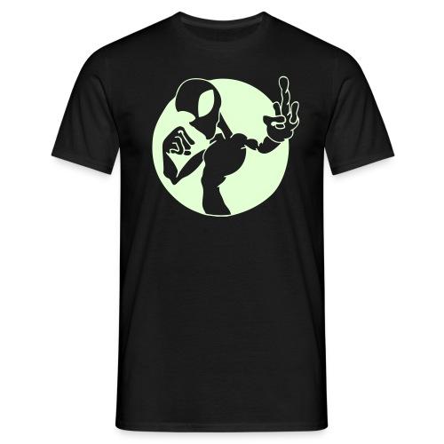 Alien Finger (Pimeässä Hohtava) - Miesten t-paita