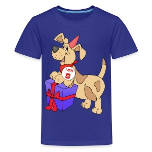 I am 8 doggy - Teenage Premium T-Shirt