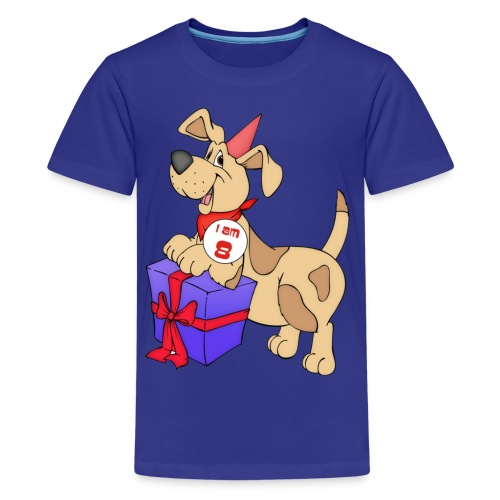 I am 8 doggy - Teenage Premium T-Shirt