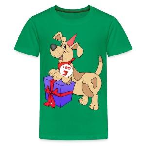 I am 3 doggy - Teenage Premium T-Shirt